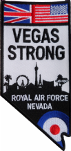 No. 39 Squadron Royal Air Force RAF 'Vegas Strong' Memorial MOD Embroidered Patch